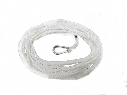 8MM X 9 Metre Nylon Rope Spliced with 8MM Carbine Hook - Advertising Banner Backdrop